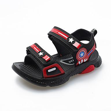 baratos Sapatos de Criança-Para Meninas Tricô Sandálias Little Kids (4-7 anos) / Big Kids (7 anos +) Conforto Caminhada Vermelho / Preto / Azul Verão