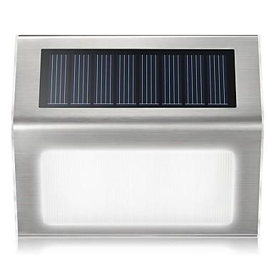 billige Utendørsbelysning-1pc 0.2 W Utendørs Vegglamper / Solar Wall Light Vanntett / Solar / Lysstyring Hvit 2 V Utendørsbelysning / Courtyard / Have 2 LED perler