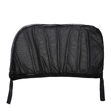 voordelige Auto-interieur accessoires-2 stks auto zonneklep achter zijruit zonnescherm mesh stof zonneklep schaduw cover shield uv protector zwart auto zonnescherm gordijn