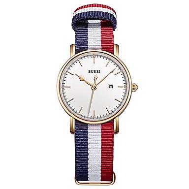 baratos Relógios Senhora-Mulheres Relógio Elegante Quartzo 30 m Impermeável Relógio Casual Analógico Casual Fashion - Branco Um ano Ciclo de Vida da Bateria / Aço Inoxidável
