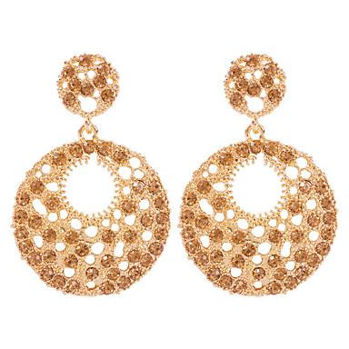 baratos Bijuteria de Mulher-Mulheres Brincos Compridos Geométrico Feliz Fashion Modern Imitações de Diamante Brincos Jóias Dourado Para Diário Festival 1 par
