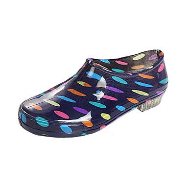 povoljno Ženske čizme-Žene Čizme Blok pete Okrugli Toe PVC Čizme gležnjače / do gležnja Ležerne prilike Ljeto Dark Blue / Sive boje / Svjetloplav / Color block