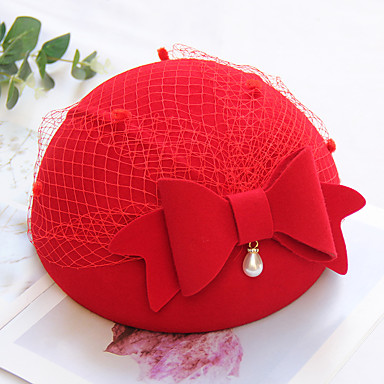 Yün Şapkalar / Başlık ile Fiyonk / Çiçekli / Süsler 1 Parça Düğün / Günlük Giyim Başlık