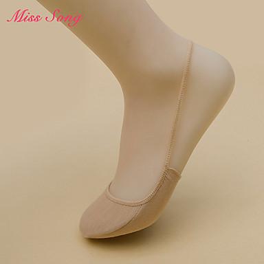 billige Skotilbehør-2 par Dame Sokker Standard Ensfarget Leg Shaping Sexy Bomullsblanding EU36-EU46