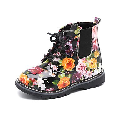 povoljno Cipele za djevojčice-Djevojčice PU Čizme Mala djeca (4-7s) / Velika djeca (7 godina +) Modne čizme / Vojničke čizme Patent-zatvarač Obala / Crn Jesen / Zima / Čizme gležnjače / do gležnja / Zabava i večer