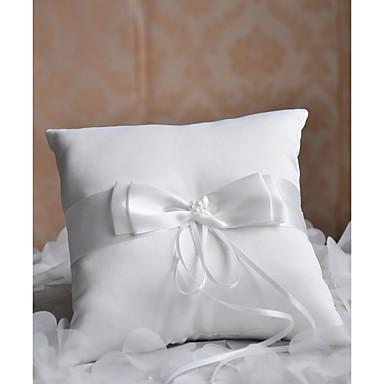 Poli / Pamuk Karışımı / alaşım Metal / Kristaller / Yapay Elmaslar Polyester Yuvarlak Yastık Yastık / Düğün Tüm Mevsimler