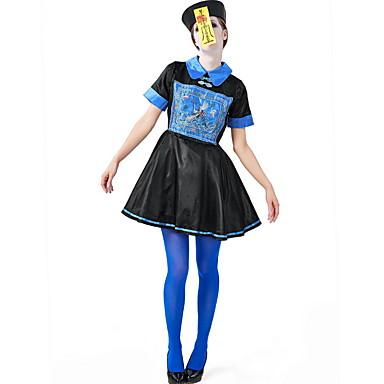 Zombie Kostüm Kadın's Peri Masalı Teması Cadılar Bayramı Performans Kostümler Kadın's Dans kostümleri Polyester Nakış