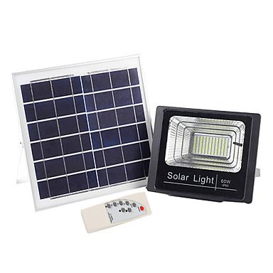 abordables Éclairage Extérieur-1pc 60 W Projecteurs LED / Eclairages extérieurs muraux / Lampe murale solaire Imperméable / Télécommandé / Solaire Blanc 3.2 V Eclairage Extérieur / Piscine / Cour 120 Perles LED