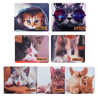 abordables Tapis de Souris-tapis de souris anti-dérapant anti-dérapant motif de chat maikou belle 21.8 * 18 * 0.2cm