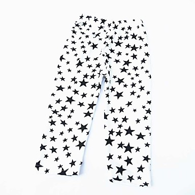 baratos Calças & Leggings para Meninas-Bébé Para Meninas Activo Estampa Colorida Calças Branco