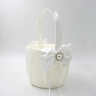 abordables Paniers de Fleurs-Panier de fleurs Satin 22 cm Noeud en satin 1 pcs