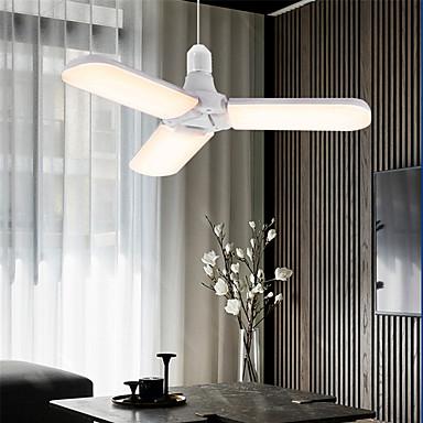 billige Elpærer-1set 45 W LED-globepærer 300 lm E26 / E27 228 LED perler SMD 2835 Nytt Design Varm hvit Hvit 90-265 V