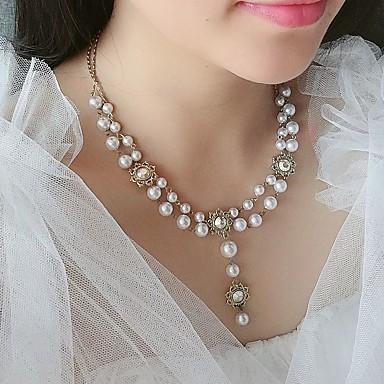 billige Halskjeder-Dame Hvit Halskjede Chrome Hvit 40 cm Halskjeder Smykker 1pc Til Daglig