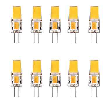 abordables Ampoules électriques-10pcs 2.5 W LED à Double Broches 3000 lm G4 1 Perles LED Blanc Chaud Blanc 12 V