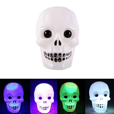 halpa Koristevalot-halloween värikäs väri muuttuva salama led kallo yövalo salama kallo grimace led taskulamppu lamppu koriste lahja favor 1pack