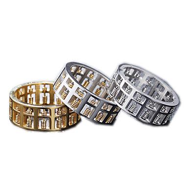 voordelige Herensieraden-Heren Bandring Ring 1pc Goud Zilver Goud Rose Titanium Staal Cirkelvormig Vintage Standaard Modieus Dagelijks Sieraden