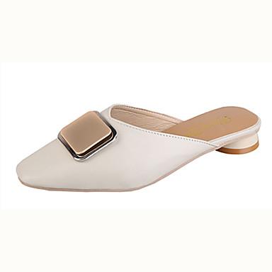 Kadın's Mokasen & Bağcıksız Ayakkabılar Düşük Topuk Suni Deri / PU Sonbahar / İlkbahar yaz Kahverengi / Bej