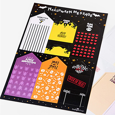 voordelige Feestbenodigdheden-halloween papieren bericht kaart feestelijke feest decoraties bericht kaart halloween levert 5 * 10,2cm