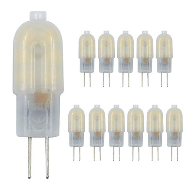 abordables Ampoules électriques-zdm g4 led ampoule 12 pack 2.5w led blanc laiteux bi-pin g4 base 10-20w remplacement de l'ampoule halogène blanc chaud / blanc froid ac220v / dc12v