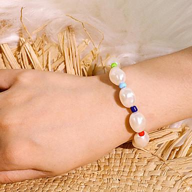 billige Motearmbånd-Dame Armbånd Klassisk Dyrebar Klassisk trendy Elegant Perle Armbånd Smykker Regnbue Til Gave Daglig Skole Ferie Arbeid