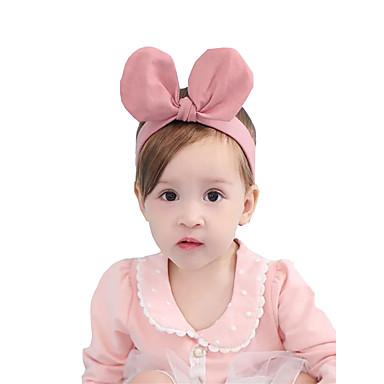 billige Tilbehør til barn-Baby / Spedbarn Jente Aktiv / Søt Ensfarget Hårtilbehør Rosa / Gul En Størrelse