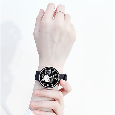 baratos Relógios Homem-Mulheres Relógios de Quartzo Desenho Fashion Preta Branco Azul Silicone Quartzo Preto Branco Rosa Relógio Casual Adorável 1 Pça. Analógico Um ano Ciclo de Vida da Bateria / Aço Inoxidável