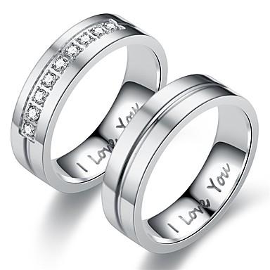 ราคาถูก แหวน-สำหรับผู้ชาย / สำหรับผู้หญิง วงแหวน / แหวน / หางแหวน 1pc สีทอง / สีเงิน เหล็กกล้าไร้สนิม วงกลม ส่วนบุคคล / วินเทจ / พื้นฐาน ของขวัญ / ทุกวัน / คำมั่นสัญญา เครื่องประดับเครื่องแต่งกาย