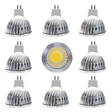 billige Elpærer-9pcs 15 W LED-spotpærer 300 lm MR16 MR16 1 LED perler COB Nytt Design Varm hvit Hvit 12 V