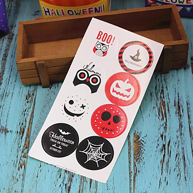 voordelige Feestbenodigdheden-80 stks halloween papieren stickers feestelijke feestdecoraties afdichting sticker halloween levert 4.2 cm