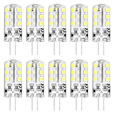 10pcs 3 W LED Bi-pin Işıklar 3000 lm G4 T 24 LED Boncuklar SMD 2835 Yeni Dizayn Sıcak Beyaz Beyaz 12 V