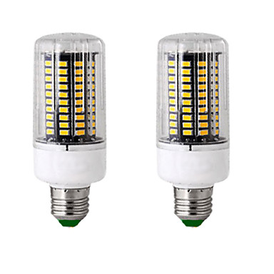 cheap Light Bulbs-2pcs 13 W LED Corn Lights 300 lm E14 GU10 B22 T 120 LED Beads SMD 5736 New Design Warm White White 85-265 V