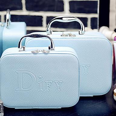 billige Vesker-Vanntett PU Glidelås Kosmetisk Bag funksjonelle Vesker Helfarge utendørs Svart / Himmelblå / Fuksia