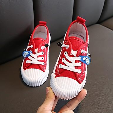 povoljno Cipele za djevojčice-Dječaci / Djevojčice Platno Sneakers Mala djeca (4-7s) Udobne cipele Crn / Obala / Bijela Jesen