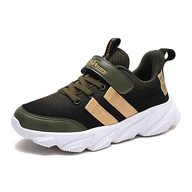 baratos Sapatos de Criança-Para Meninos Couro Ecológico Tênis Big Kids (7 anos +) Conforto Caminhada Verde / Amarelo / Azul Outono