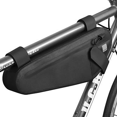 abordables Sacoches de Vélo-2 L Sac Cadre Velo Etanche Portable Zip étanche Sac de Vélo TPU 600D Polyester Matériau imperméable Sac de Cyclisme Sacoche de Vélo Cyclisme Vélo Cyclisme