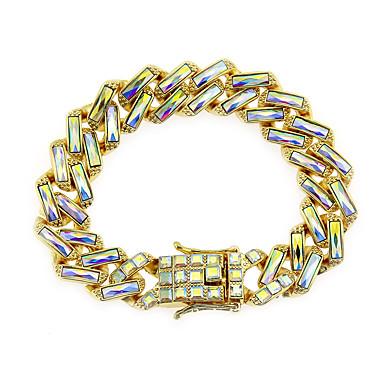 voordelige Herensieraden-Heren Helder Vintage Armbanden Oorbellen / armband Retro Lucky Vintage Punk modieus Koreaans Modieus Gesimuleerde diamant Armband sieraden Wit / Regenboog Voor Dagelijks