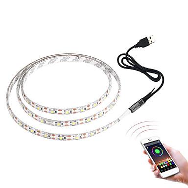billige LED Strip Lamper-brelong 3528smd rgb lys stripe 3m 180led tv bakgrunnslys Bluetooth app-kontroll dimmbar bar bord er ikke vanntett