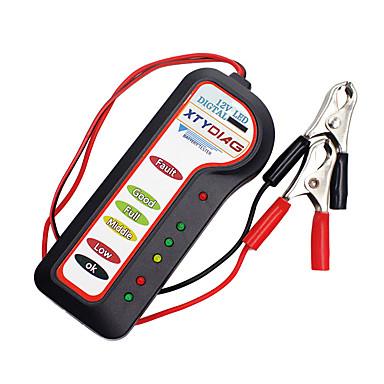 ราคาถูก OBD-Kiorc 12 โวลต์รถดิจิตอลแบตเตอรี่ Alternator tester 6 ไฟ led แสดงเครื่องมือวิเคราะห์