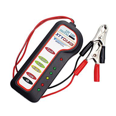 abordables OBD-kiorc 12v probador de alternador de batería digital para coche 6 luces led pantalla herramienta de diagnóstico