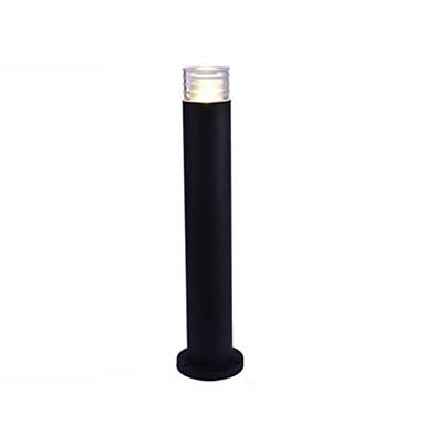 billige Utendørsbelysning-plen lampe moderne enkel led plen lys rustfast gårdsplass park landskap lys kolonne lamper vanntett 5w svart