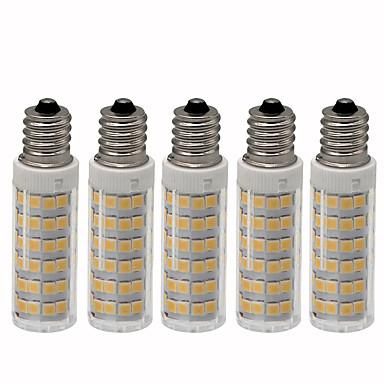 billige Elpærer-5pcs 4.5 W LED-kornpærer 450 lm E12 T 76 LED perler SMD 2835 Mulighet for demping Varm hvit Kjølig hvit 110 V