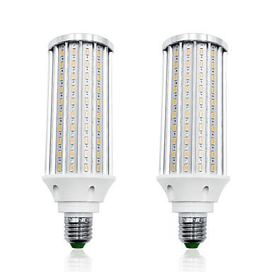 billige Elpærer-LOENDE 2pcs 60 W LED-kornpærer 6000 lm E26 / E27 T 160 LED perler SMD 5730 Varm hvit Hvit 85-265 V
