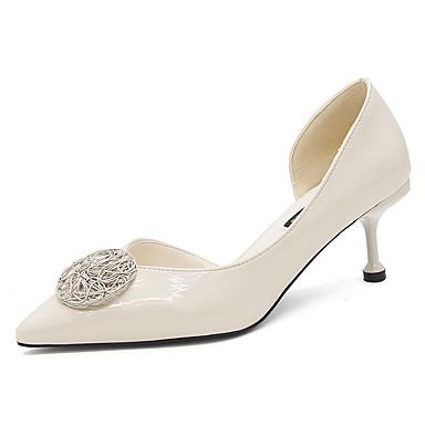 Žene Cipele na petu Stiletto potpetica Krakova Toe PU Ljeto Crn / Bež / Zabava i večer
