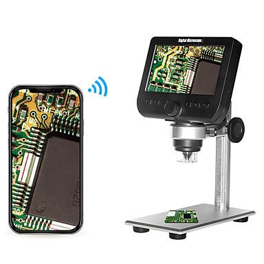 billige Test-, måle- og inspektionsudstyr-2,0mp multifunktionelt trådløst 4,3 tommer skærm digitalt mikroskop med 8 justerbar lysstyrke LED lys metalbeslag