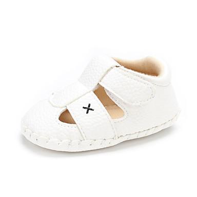 Genç Erkek / Genç Kız PU Sandaletler Bebek (9 milyon 4ys) Rahat Siyah / Beyaz Yaz