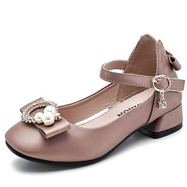 baratos Sapatos de Criança-Para Meninas Microfibra Saltos Little Kids (4-7 anos) Sapatos para Daminhas de Honra Preto / Branco / Rosa claro Verão
