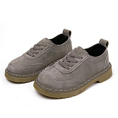 baratos Sapatos de Criança-Para Meninas Couro Oxfords Little Kids (4-7 anos) Conforto Preto / Camel / Khaki Primavera