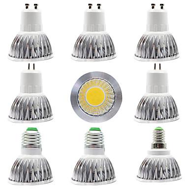 abordables Ampoules électriques-9pcs 15 W Spot LED 300 lm E14 GU10 GU5.3 1 Perles LED COB Design nouveau Blanc Chaud Blanc 220-240 V 110-120 V