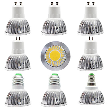 billige Elpærer-9pcs 15 W LED-spotpærer 300 lm E14 GU10 GU5.3 1 LED perler COB Nytt Design Varm hvit Hvit 220-240 V 110-120 V