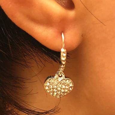 Kadın's Damla Küpeler Klasik Kalp Değerli Moda sevimli Stil Gümüş Kaplama Küpeler Mücevher Gümüş Uyumluluk Günlük Çalışma 1 çift